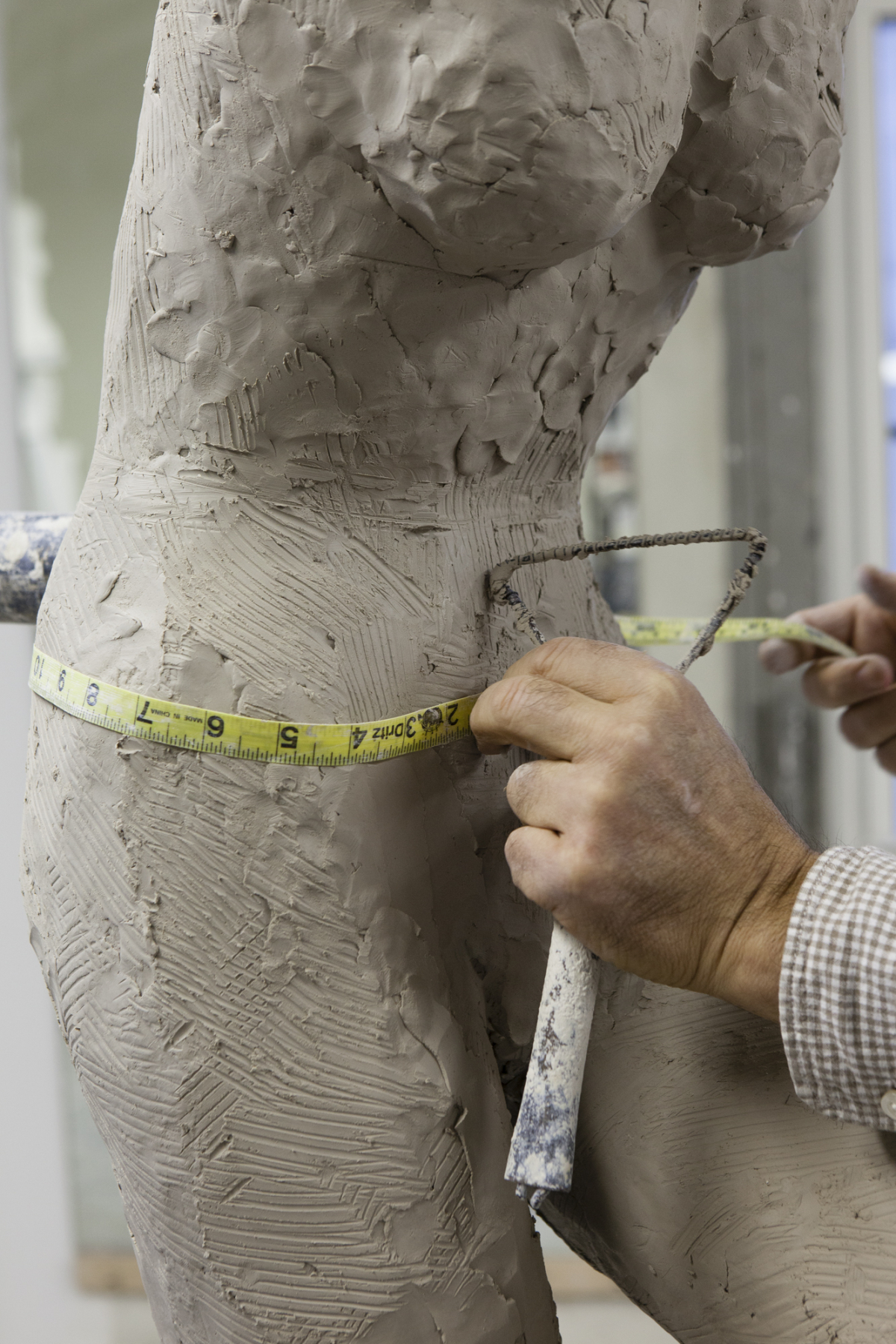 Mannequin Sculpture Being Measured, 2014: Collection of Ralph Pucci;  Photo by Antoine Bootz