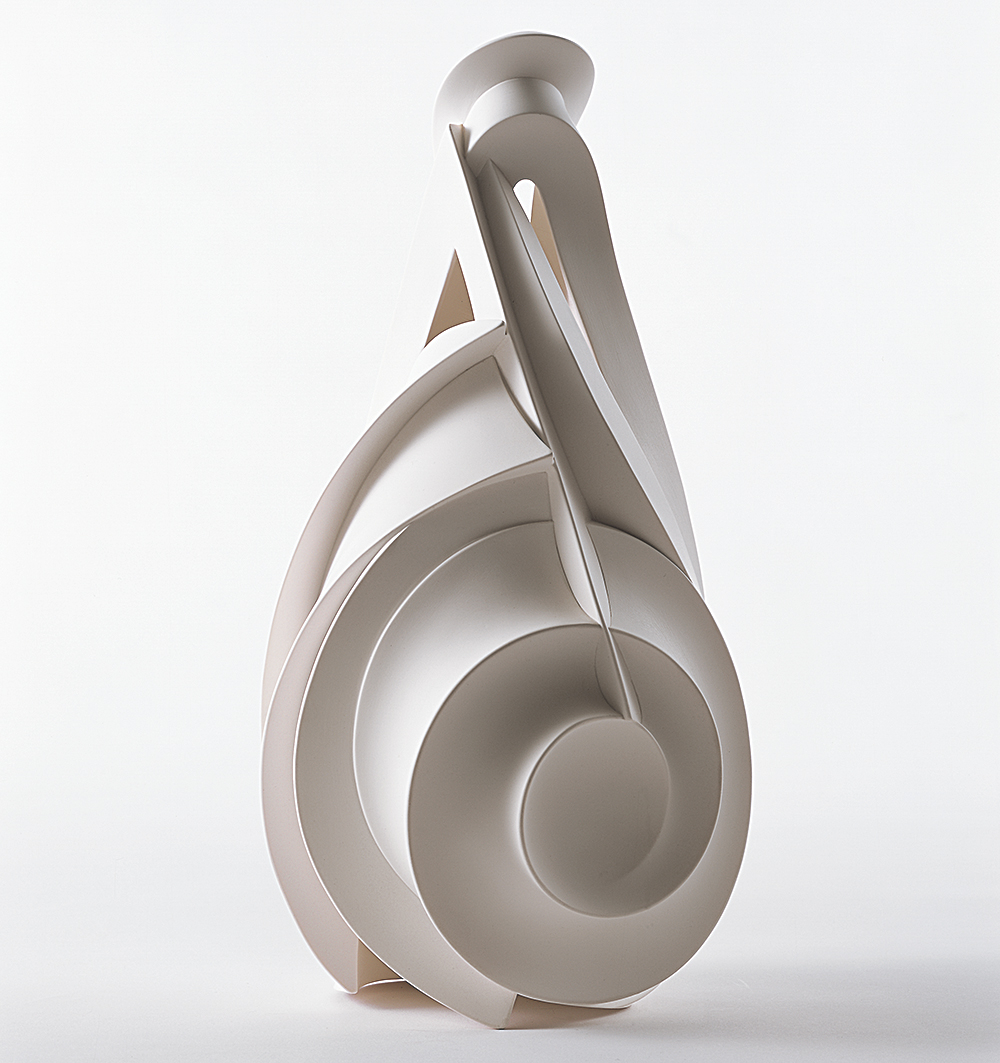 Takashi Ikura: Where Shadow Meets Form 2012-01, 2012<br> Semi-porcelain<br> 11 5/8 x 6 x 5 11/16 in. (29.6 x 15.3 x 14.5 cm) <br> Courtesy 21st Century Museum of Contemporary Art, Kanazawa<br> ©IKURA Takashi<br> Photo:  SAIKI Taku