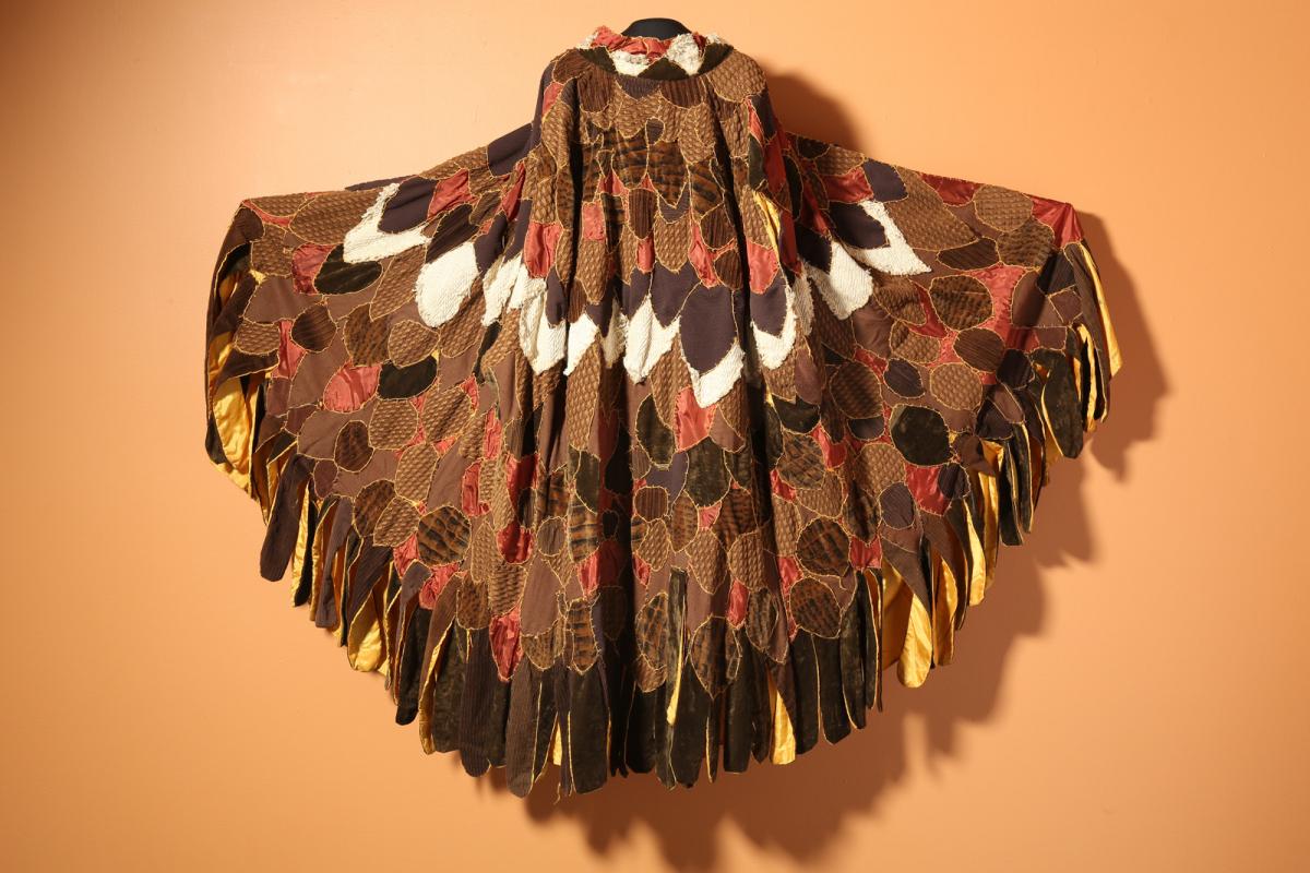 Neshama Franklin: Eagle Cape made for Gino Sky Poet-Performer, 1972