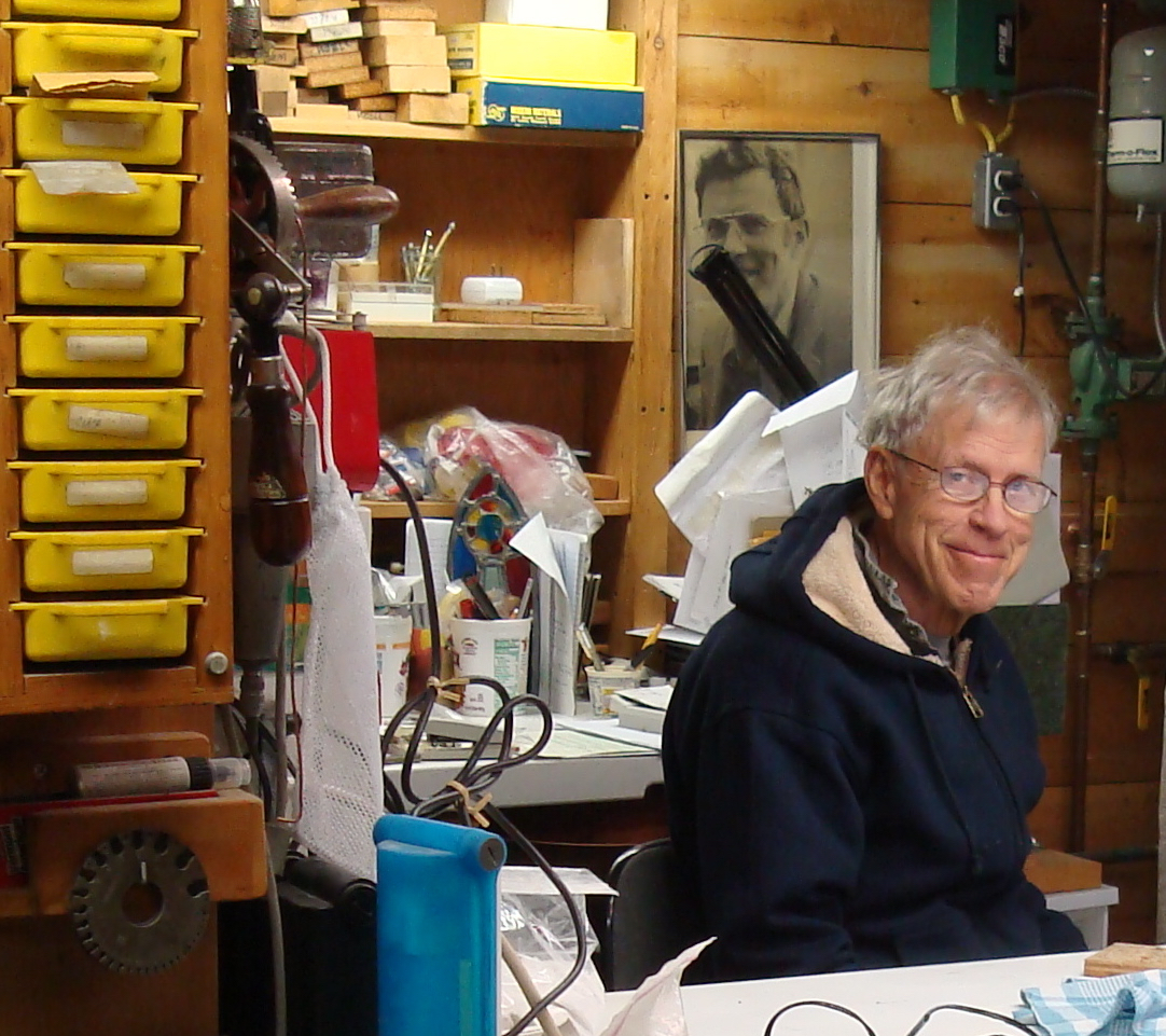 J. Fred Woell in his studio