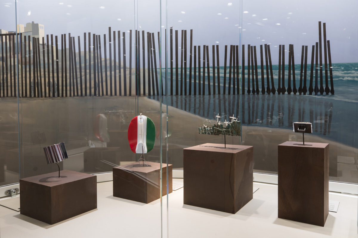 Installation view of <em>La Frontera: Encounters Along the Border</em>