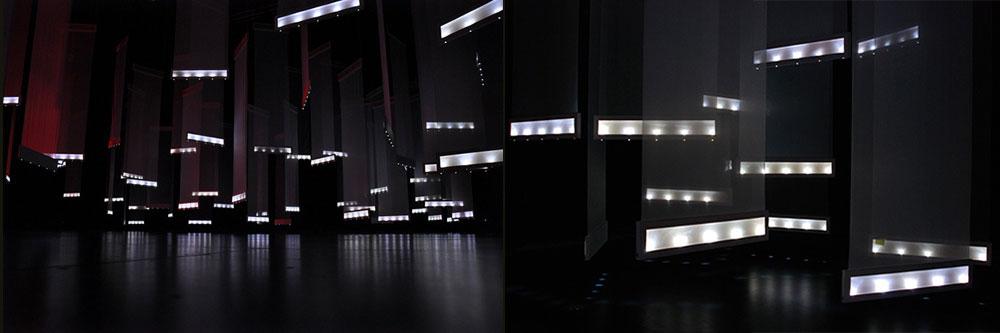 Caitlin Morris: Blindfield: Fabric, wood, Metal, Audio Transducers, LEDs