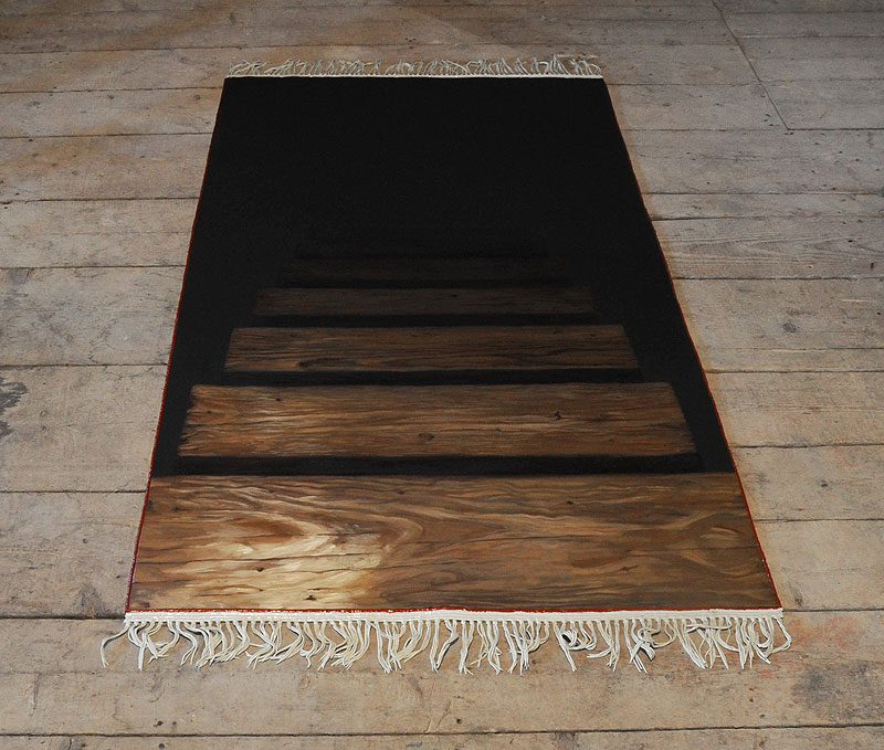 Orphic Rug, oil and acrylic paint, 2011.: Orphic Rug, oil and acrylic pain, 2011.