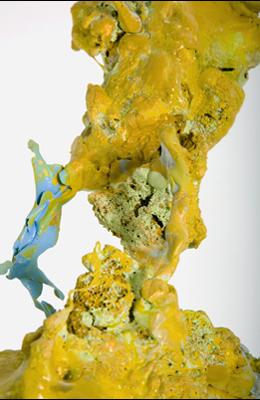 Surging Seepage: A Triple Bond Accretion System: Surging Seepage: A Triple Bond Accretion System, ceramic glaze, rubber, paint, epoxy, 2009