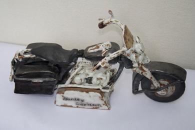 1994 Harley Davidson Road King: 1994 Harley Davidson Road King, 2010, stoneware in reduction firing
