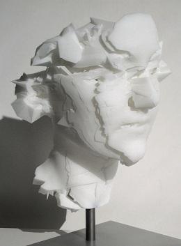Head of a Young Woman II: Head of a Young Woman II, laser-sintered nylon, 2010