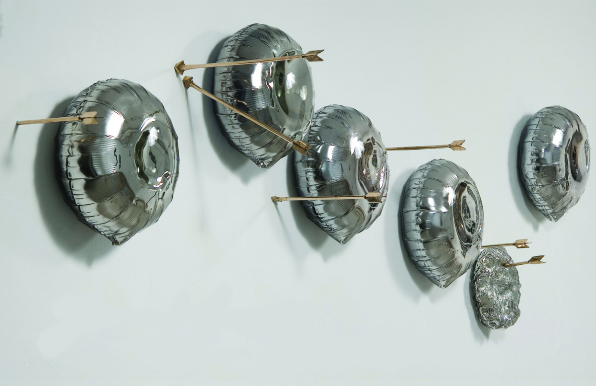 """""""Reaching an Ulterior Realm"""", 2010-2011, Blown Glass, Mirror and Bronze"""