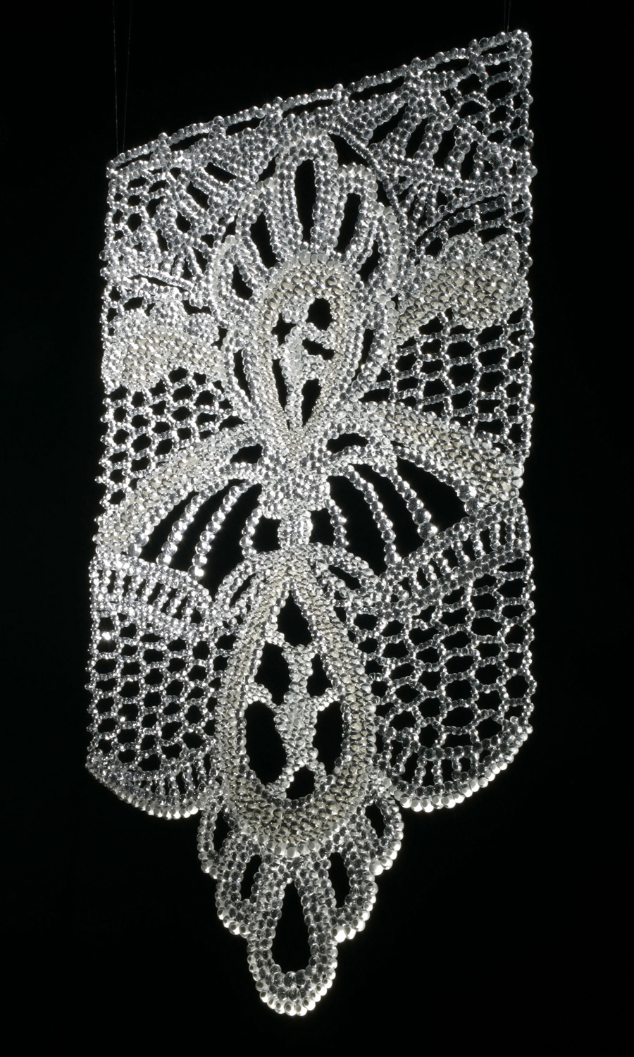 """""""Lace"""", 2007-2008, Fused Murrine/ Water-Jet Cut Glass"""