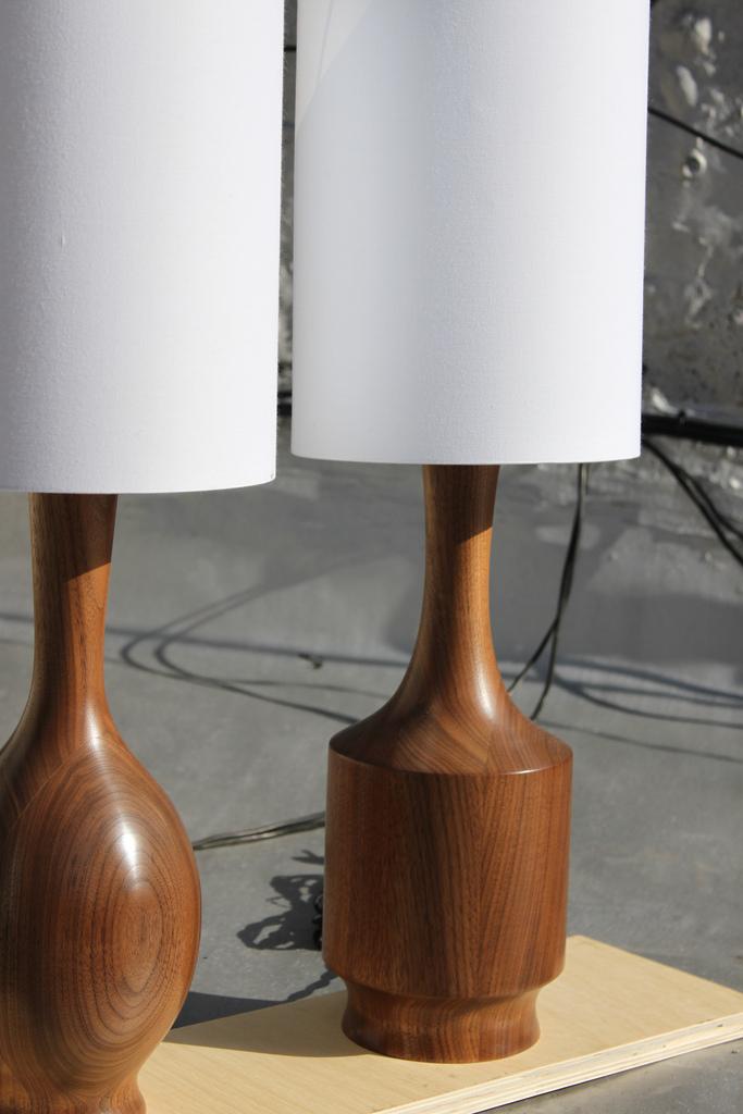 Walnut lamp: Walnut lamp